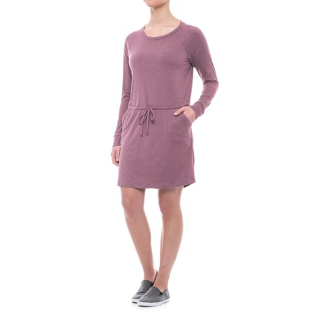 Freedom Trail Drawstring Waist Dress - Long Sleeve (For Women)