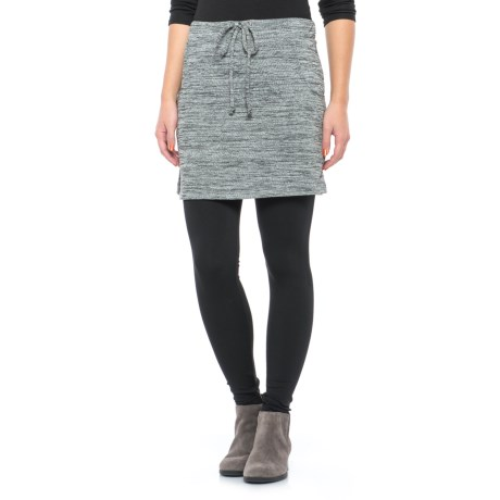 Freedom Trail French Terry Skirt (For Women) in Black/White