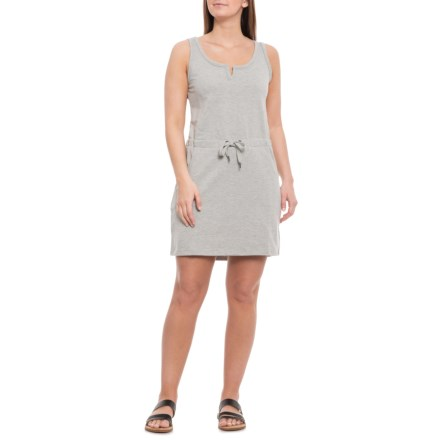 40ec470ba17 Freedom Trail Grey Mix Drawstring Waist Knit Dress - Sleeveless (For Women)  in Grey