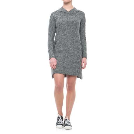 Freedom Trail Hoodie Dress - Long Sleeve (For Women) in Grey Heather