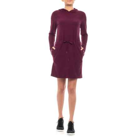 Freedom Trail Jersey Hooded Dress - Long Sleeve (For Women) in Jewel Heather - Closeouts