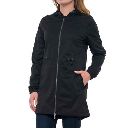 Freedom Trail Long Wind Jacket (For Women) in Black - Closeouts