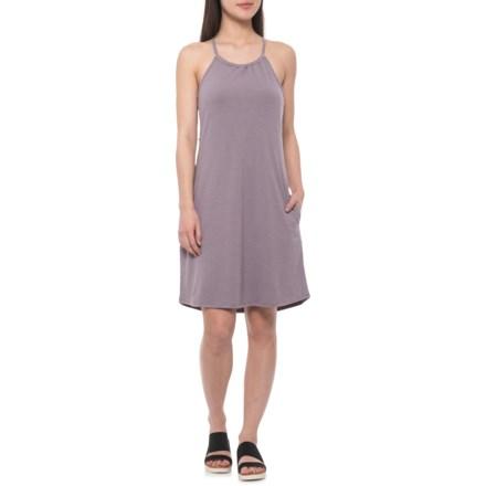 c298b7d1db4 Freedom Trail Moss Jersey Keyhole Back Dress - Sleeveless (For Women) in  Mauve Heather