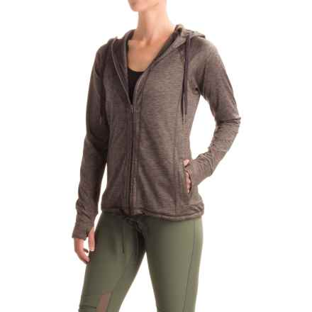 Freedom Trail Space-Dyed Jacket - Full Zip (For Women) in Charcoal Space Dye - Closeouts
