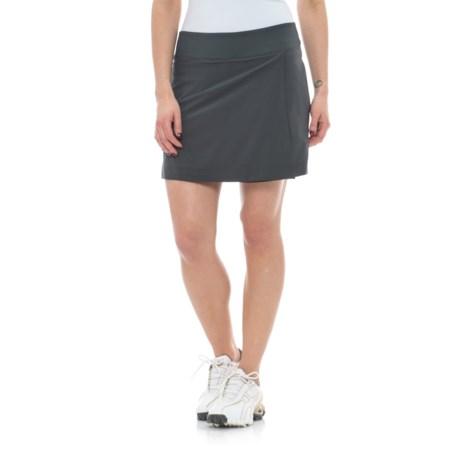 Freedom Trail Stretch Drawstring Golf Skort (For Women) in Slate