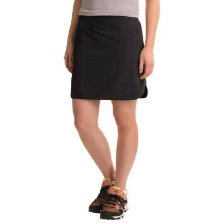 Freedom Trail Stretch Drawstring Skort - Built-In Shorts (For Women) in Black - Closeouts