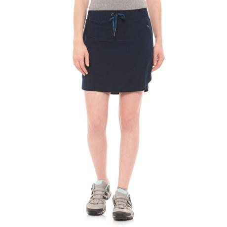 Freedom Trail Stretch Drawstring Skort - Built-In Shorts (For Women) in Navy