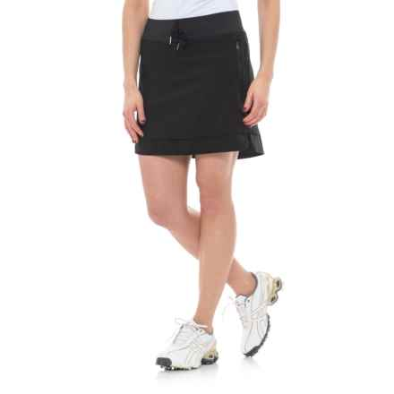Freedom Trail Stretch Drawstring Skorts (For Women) in Black - Closeouts