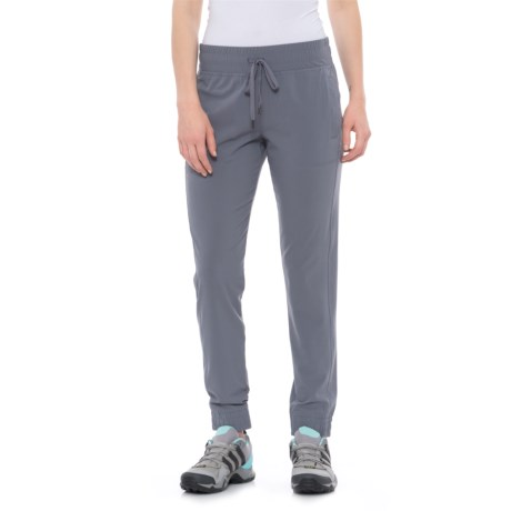 Freedom Trail Woven Jogger Pants (For Women) in Sidewalk
