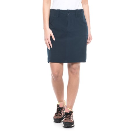 Freedom Trail Woven Walking Skirt (For Women) in Navy
