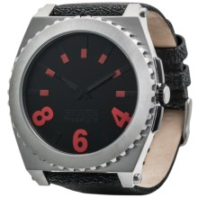 Freestyle Kraken Watch - Distressed Leather Strap in Stainless/Black - Closeouts