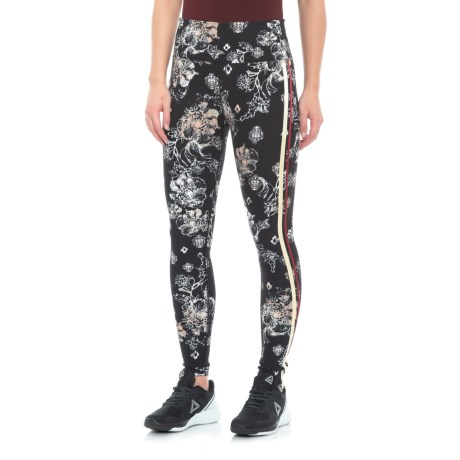 Freestyle Printed Rise Leggings (For Women)