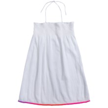 Freestyle Rainbow Pompom Swimsuit Cover-Up Dress - Sleeveless (For Big Girls) in White - Closeouts