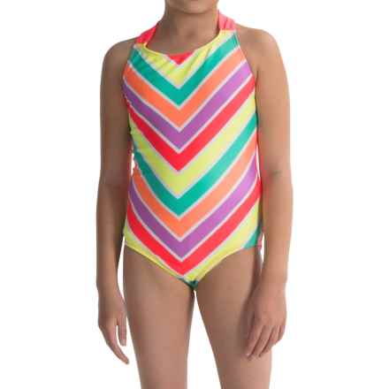 Freestyle Zazzle One-Piece Swimsuit - Fully Lined (For Big Girls) in Multi - Closeouts