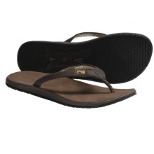 Freewaters Bolinas Sandals - Leather, Flip-Flops (For Women) in Brown - Closeouts