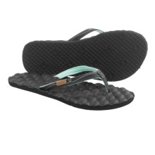 Freewaters Carly Flip-Flops (For Women) in Black/Blue - Closeouts