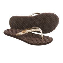 Freewaters Carly Flip-Flops (For Women) in Gold/Brown - Closeouts