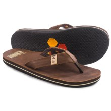 Freewaters Channel Islands Flip-Flops - Leather (For Men) in Brown - Closeouts