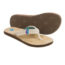 Freewaters Chico Flip-Flops (For Women) in White - Closeouts