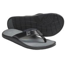 Freewaters Cruz Control Sandals - Flip-Flops (For Men) in Black - Closeouts