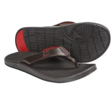 Freewaters Cruz Control Sandals - Flip-Flops (For Men) in Brown/Red - Closeouts