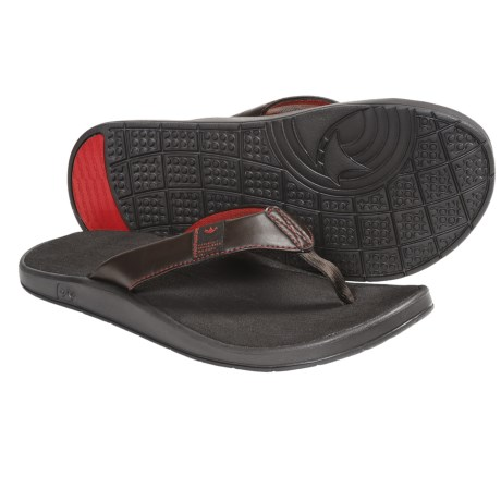 Freewaters Cruz Control Sandals - Flip-Flops (For Men) in Brown/Red
