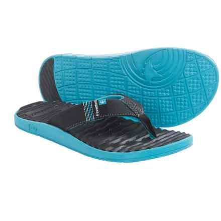 Freewaters GPS Flip-Flops (For Men) in Black/Blue - Closeouts