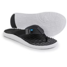 Freewaters GPS Flip-Flops (For Men) in Black/White - Closeouts
