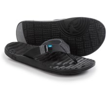Freewaters GPS Flip-Flops (For Men) in Black - Closeouts