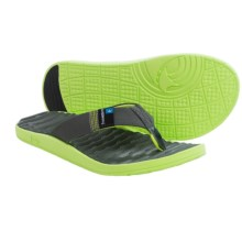 Freewaters GPS Flip-Flops (For Men) in Grey/Green - Closeouts
