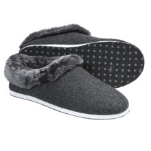 Freewaters Homer Slippers - Felted Wool, Removable Liner (For Men) in Dark Grey - Closeouts