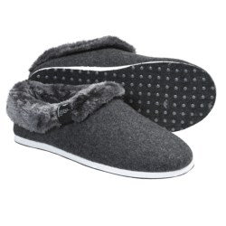 Freewaters Homer Slippers - Felted Wool, Removable Liner (For Men) in Dark Grey