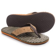 Freewaters Izzy Flip-Flops (For Men) in Tan/Olive - Closeouts