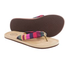 Freewaters Kitz Flip-Flops (For Women) in Red Stripe/Tan - Closeouts