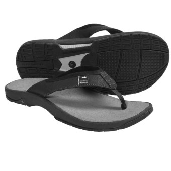 Freewaters Magic Carpet Sandals - Flip-Flops (For Men) in Black