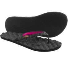 Freewaters Mandy Flip-Flops (For Women) in Black Pin Stripe - Closeouts