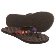 Freewaters Mandy Flip-Flops (For Women) in Red Stripe/Brown - Closeouts