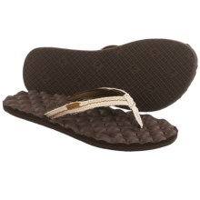 Freewaters Mandy Flip-Flops (For Women) in White/Brown - Closeouts