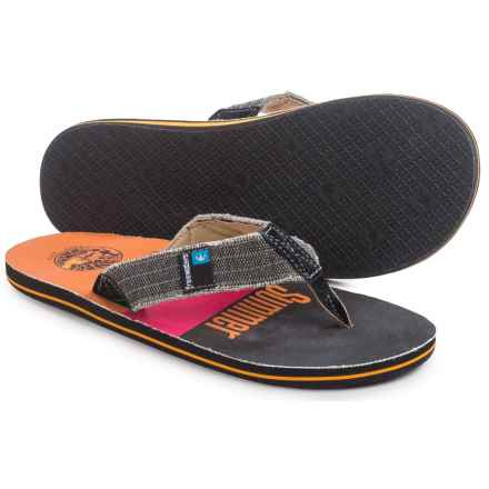 Freewaters Palapa Printed Flip-Flops (For Men) in Endless Summer - Closeouts