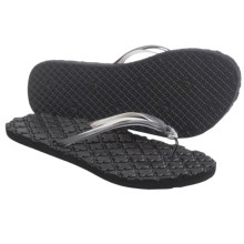 Freewaters Paloma Flip-Flops (For Women) in Black/Grey - Closeouts