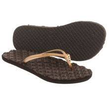 Freewaters Paloma Flip-Flops (For Women) in Gold/Brown - Closeouts