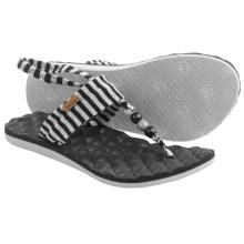Freewaters Riviera Sling-Back Sandals (For Women) in Black/Grey Stripe - Closeouts