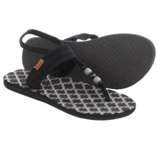 Freewaters Riviera Sling-Back Sandals (For Women) in Black/Grey - Closeouts