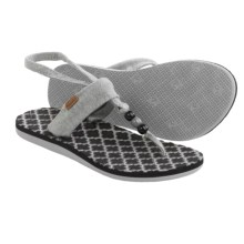 Freewaters Riviera Sling-Back Sandals (For Women) in Light Grey - Closeouts