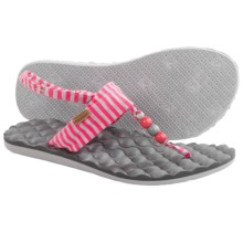 Freewaters Riviera Sling-Back Sandals (For Women) in Pink/Grey Stripe - Closeouts