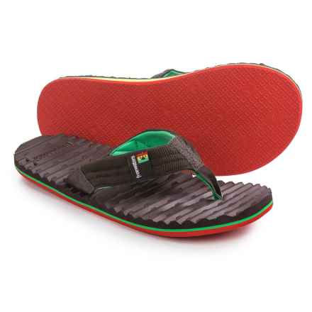 Freewaters Scamp Flip-Flops (For Men) in Brown/Rasta - Closeouts