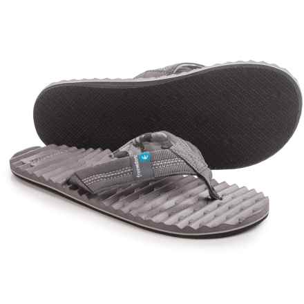 Freewaters Scamp Flip-Flops (For Men) in Dark Grey - Closeouts