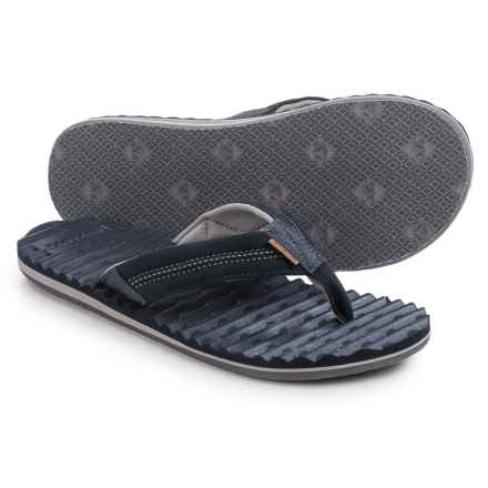Freewaters Scamp Flip-Flops (For Men) in Navy/Dark Grey - Closeouts