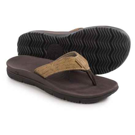 Freewaters Tall Boy Cork Flip-Flops (For Men) in Tan/Cork - Closeouts