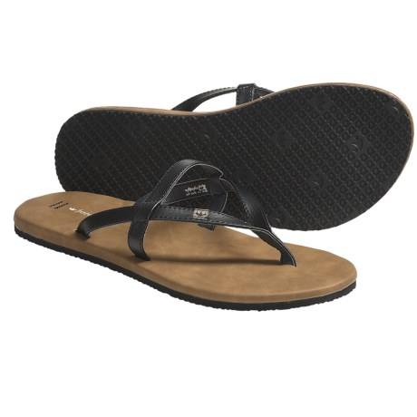 Freewaters Taxi Sandals - Flip-Flops (For Women) in Black/Tan